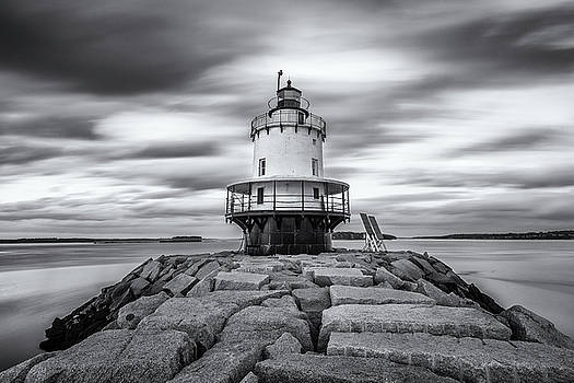 Passing Clouds at Spring Point Ledge by Jesse MacDonald