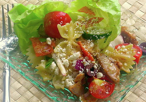 James Temple - Pasta-Chicken Salad with Mustard Dressing