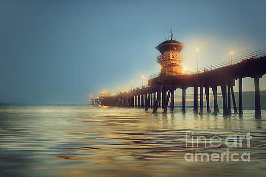 Pastel Evening at Huntington Beach Pier by Susan Gary