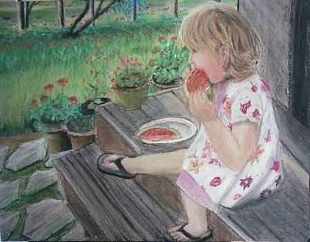 Pastel Painting-summer Delicacy by Mitali Mahapatra