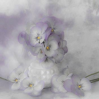 Sandra Foster - Pastel Pansies Still Life