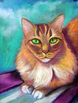 Pastel portrait of my cat Seamus by Gayle Bell