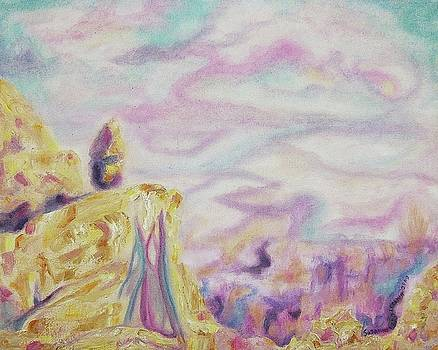 Suzanne  Marie Leclair - Pastel Rocks and Sky