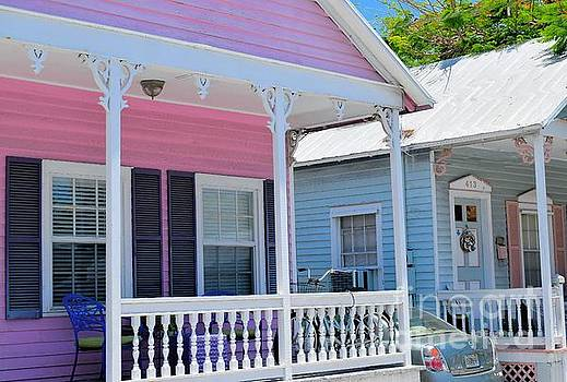 Pastel Row in Key West Florida by Janette Boyd