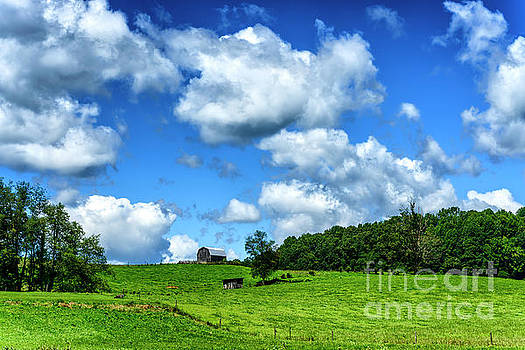 Pasture Barn and Sky by Thomas R Fletcher