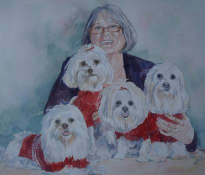 Pat and her babies by Gloria Turner