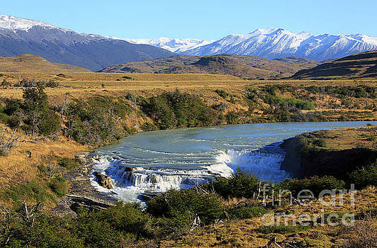 Patagonia landscape of Torres del Paine National Park in Chile by Louise Heusinkveld