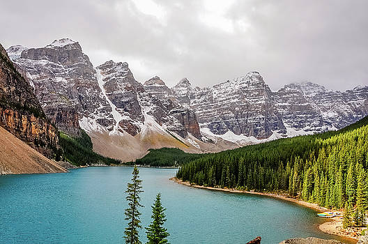 Patch of sunlight at Lake Moraine by Daniela Constantinescu