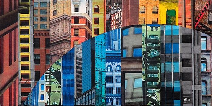 Patchwork City 19 by Marilyn Henrion