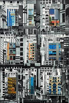 Patchwork City 26 by Marilyn Henrion