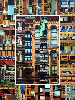Patchwork City 69 by Marilyn Henrion