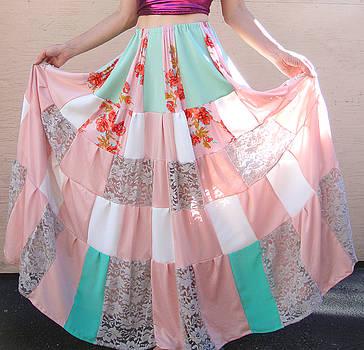 Sofia Metal Queen - Patchwork skirt. Ameynra handcraft series