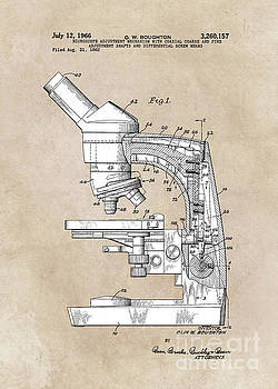 Justyna Jaszke JBJart - patent art Boughton microscope 1966