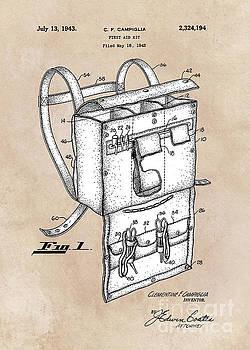 Justyna Jaszke JBJart - patent art Campiglia First Aid kit 1942