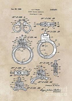 Justyna Jaszke JBJart - patent art Foley Secret Release Handcuffs 1966