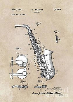 Justyna Jaszke JBJart - patent art Gillespie Saxophone 1945