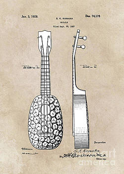 Justyna Jaszke JBJart - patent art Kamaka Ukulele 1927