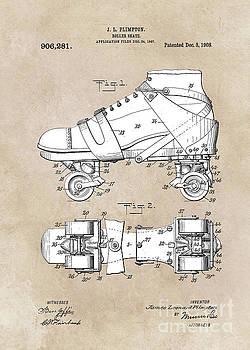 Justyna Jaszke JBJart - patent art Plimpton Roller Skate 1907