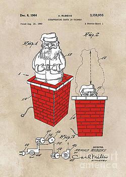 Justyna Jaszke JBJart - patent art Rubens Disappearing Santa in Chimney 1960