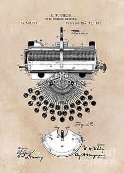 Justyna Jaszke JBJart - patent art type writing machine Uhlig 1897