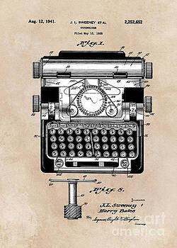 Justyna Jaszke JBJart - patent art typewriter Sweeney 1938