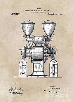 Justyna Jaszke JBJart - patent art Wear Combined Coffee grinder and cleaner 1911