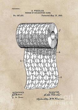 Justyna Jaszke JBJart - patent art Wheeler Process of ornamenting paper 1893