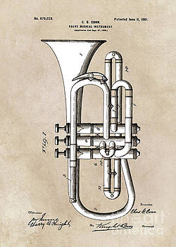 Justyna Jaszke JBJart - patent Conn  Valve Musical Instrument 1901
