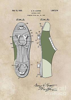 Justyna Jaszke JBJart - patent Harper Baseball cleat 1928