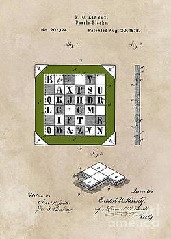 Justyna Jaszke JBJart - patent Kinsey Puzzle Blocks 1878