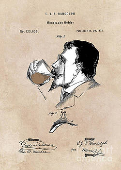 Justyna Jaszke JBJart - patent moustache holder  Randolph  1872