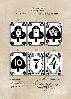 Justyna Jaszke JBJart - patent Playing cards 1877 Saladee