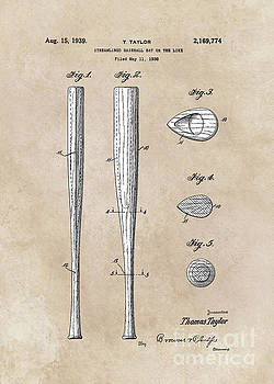 Justyna Jaszke JBJart - patent Taylor Streamlined baseball bat or the like 1938