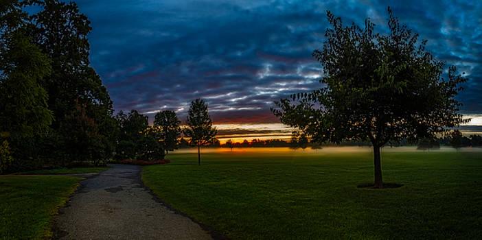 Chris Bordeleau - Path along a Misty Twilight Meadow