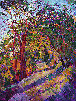 Path in the Oaks by Erin Hanson