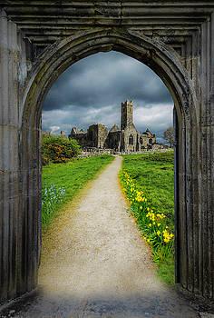 Path to Ireland's Quin Abbey, County Clare by James Truett