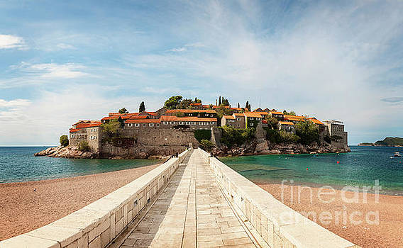 Path to Sveti Stefan island by Sophie McAulay
