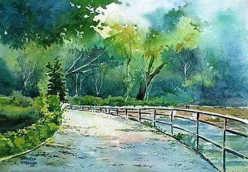 Pathway at Lakaki Lake by Sandeep Khedkar