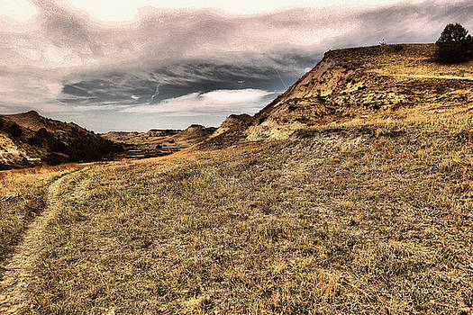Pathway into the badlands by Jeff Swan