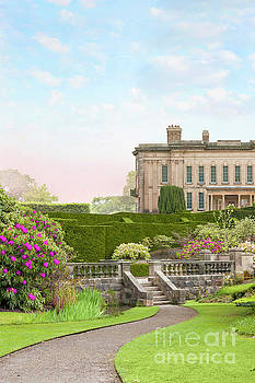 Pathway Through The Garden To A Historical Mansion House by Lee Avison