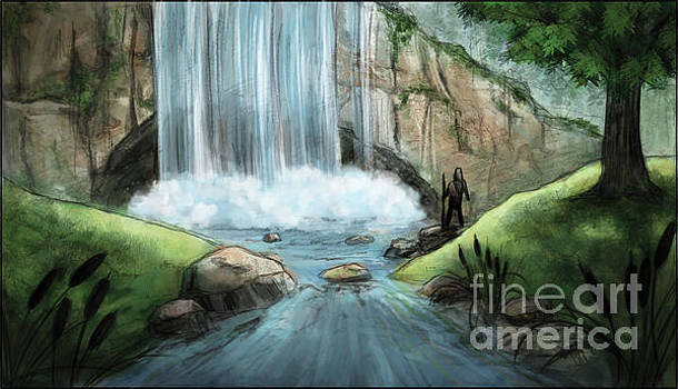 Pathways - Waterfall by Brandy Woods