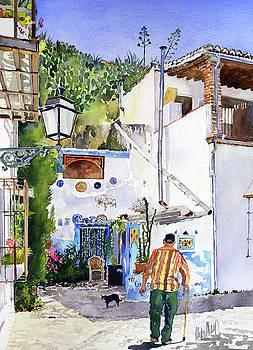 Patio in Sacromonte Granada by Margaret Merry