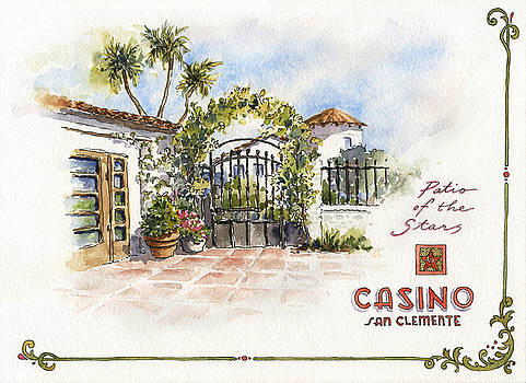 Patio of the Stars at The Casino by Leslie Fehling