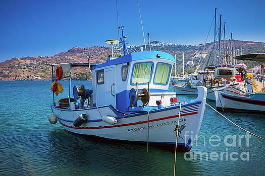 Patmos Fishing Boat by Inge Johnsson
