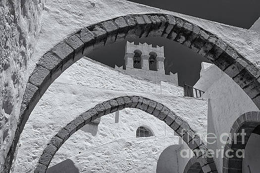 Patmos Monastery Arches by Inge Johnsson