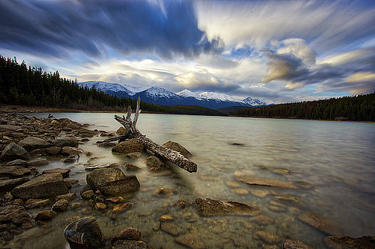 Patricia Lake Long Exposure by Darcy Michaelchuk