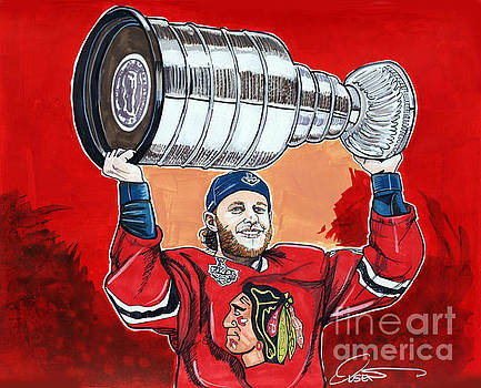 Patrick Kane Stanley Cup Champion 2015 by Dave Olsen