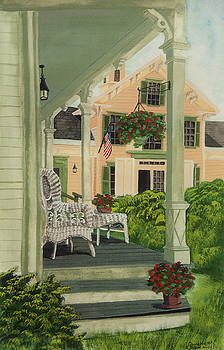 Charlotte Blanchard - Patriotic Country Porch