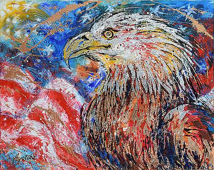 Patriotic Eagle  by Jyotika Shroff
