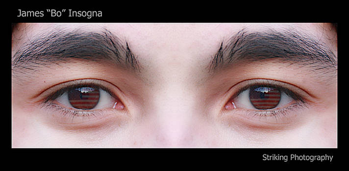 James BO  Insogna - Patriotic Eyes - Poster